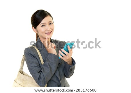 Women with smartphone