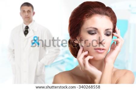 Women.Woman gynecology.Female health. - stock photo