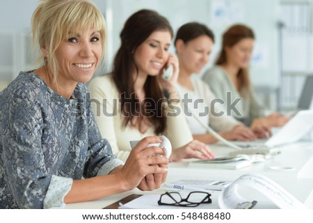 women working together in office