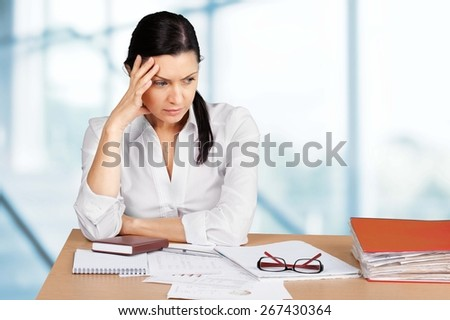 Women, Worried, Depression. - stock photo