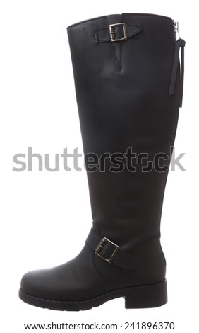 Womens boot isolated on white background - stock photo