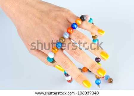 Womens hands with manicure - stock photo