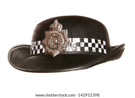 womens police hat studio cutout - stock photo