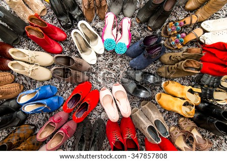 Womens shoes - stock photo