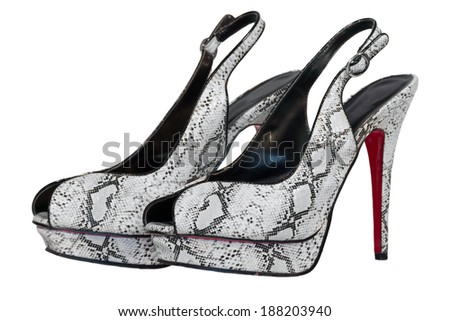 womens shoes high heel black isolated white background