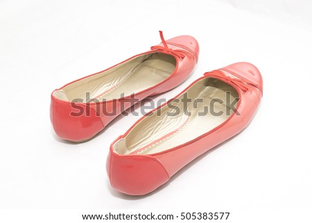 Womens Shoes Isolated on a White Background