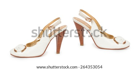 womens shoes isolated on white - stock photo