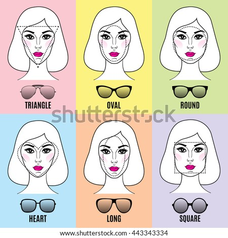 Face shape stock images royalty free images vectors shutterstock womens sunglasses shapes for different face shapes urmus Image collections