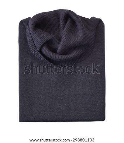 womens sweater isolated on white. with a clipping path.