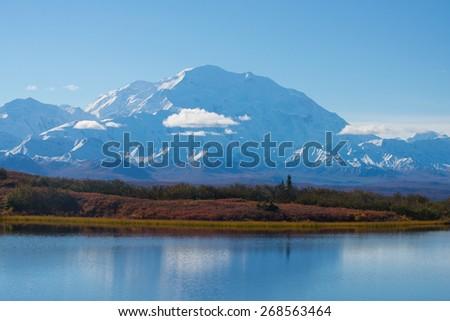 Wonder Lake Denali National Park - stock photo