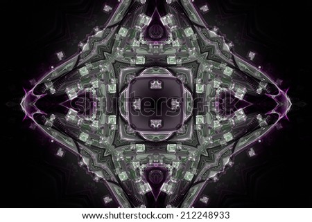 wonderful abstract illustrated glass background object