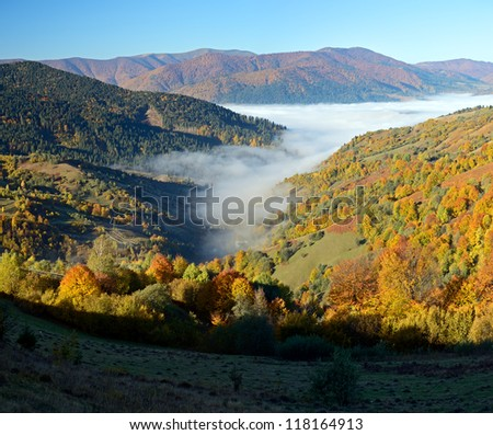 Wonderful autumn day in mountains