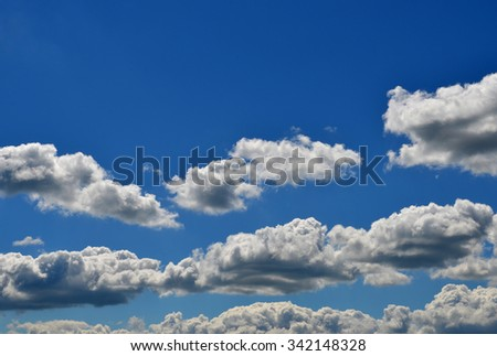Wonderful blue sky, with some white clouds - stock photo