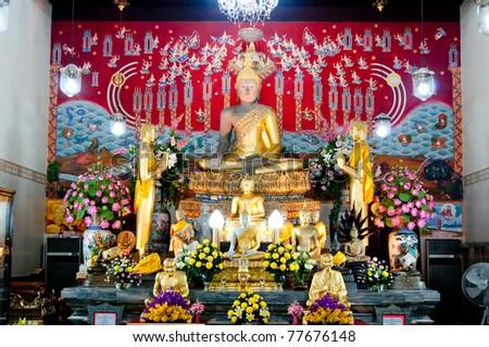 Wonderful Buddha Status in Ayutthaya - stock photo