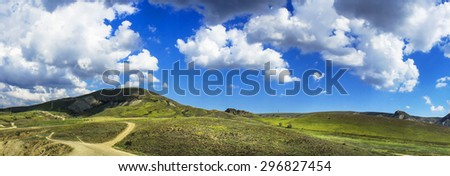 Wonderful Crimean mountains in summer. - stock photo