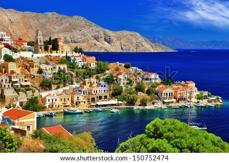 wonderful Greece. Symi island , Dodecanese - stock photo