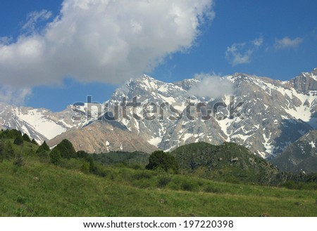 wonderful landscape of the mountains in Kazakhstan