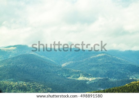 Wonderful landscapes of the Carpathian Mountains