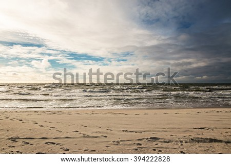 Wonderful stormy weather at the Baltic sea - stock photo