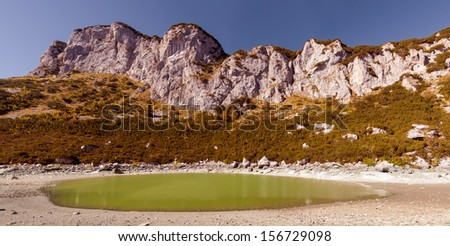 Wonderful view to mountains in the national park Durmitor - stock photo