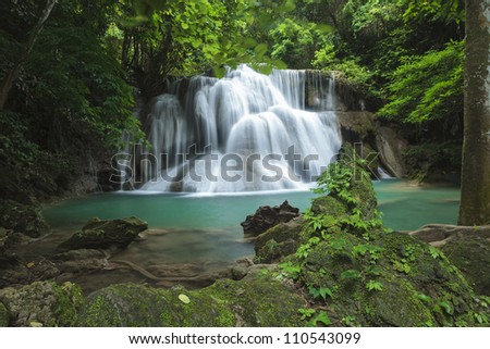 Wonderful waterfall in deep forest