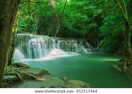 wonderful waterfall in forest