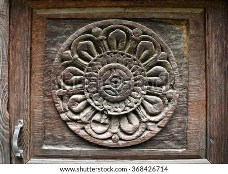 Wooden tiles designhigh resolution stock photo 490518010 for Door design kashmir