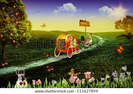 Wonderland. Abstract fairy tale backgrounds for your design - stock photo
