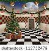 Wonderland series - Christmas in wonderland - stock photo