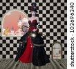 Wonderland series - looking for Alice - stock photo