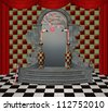 Wonderland series - wonderland entrance - stock photo