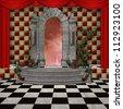 Wonderland series - Wonderland stage - stock photo