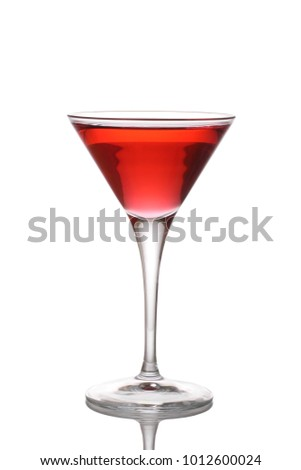 Woo woo cocktail isolated on a white background.