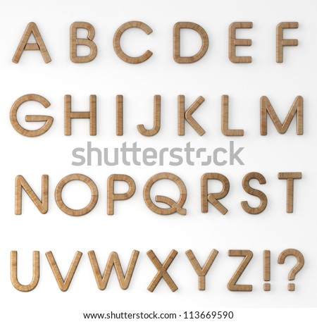 Wood Alphabet - stock photo
