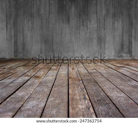 Wood background - table with wooden wall - stock photo