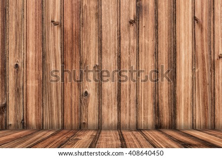 Wood Background with Floor - stock photo