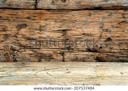 Wood Background, Wood Texture, Old Plank - stock photo