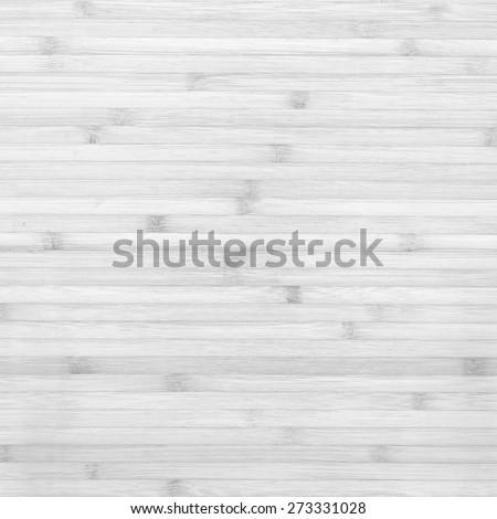 Wood bamboo plank white texture background - stock photo