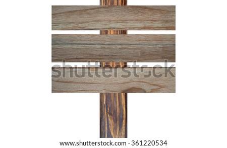 wood banner - stock photo