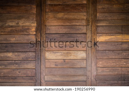 wood barn door texture background - stock photo