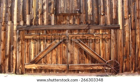 Wood Barn Doors  - stock photo