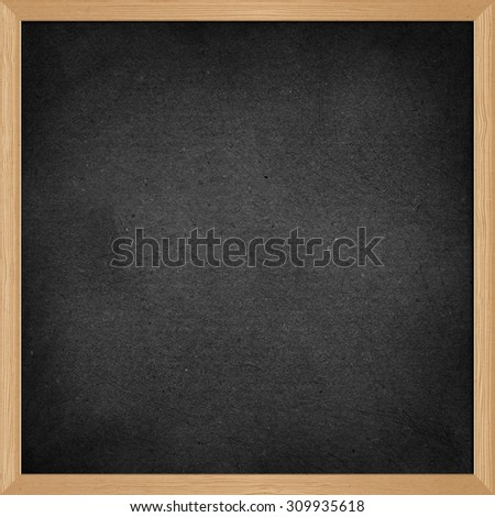 wood black school blackboard. Isolated object. - stock photo