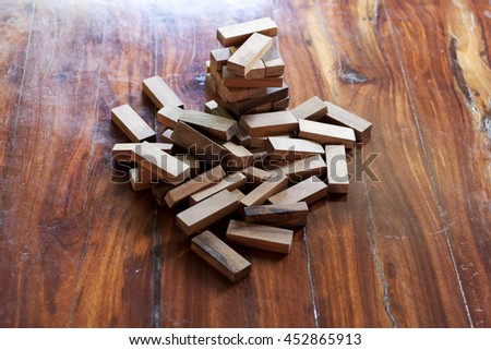 Wood blocks stack game.
