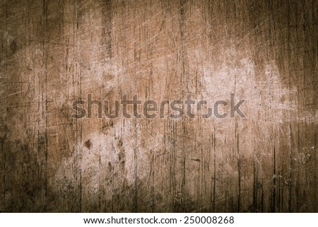 wood board weathered with scratch texture vintage background - stock photo