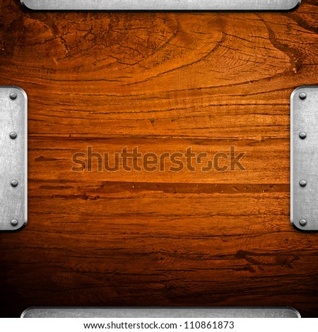 wood board with iron trinket