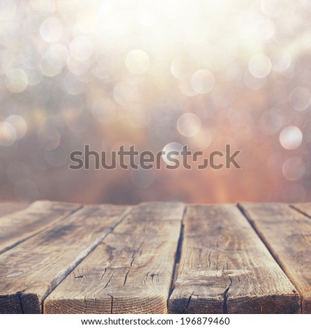 wood boards and summer light among trees. textured image. filtered.  - stock photo