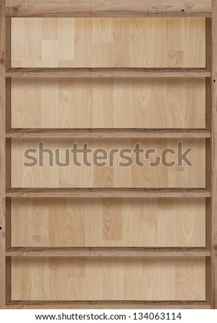 Wood bookshelves vintage retro