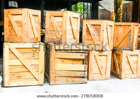wood box - stock photo