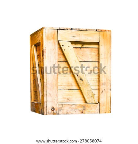 wood box  - stock photo