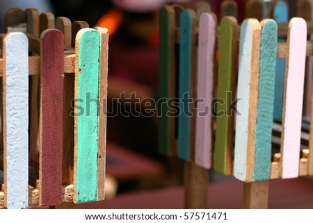 Wood box. - stock photo